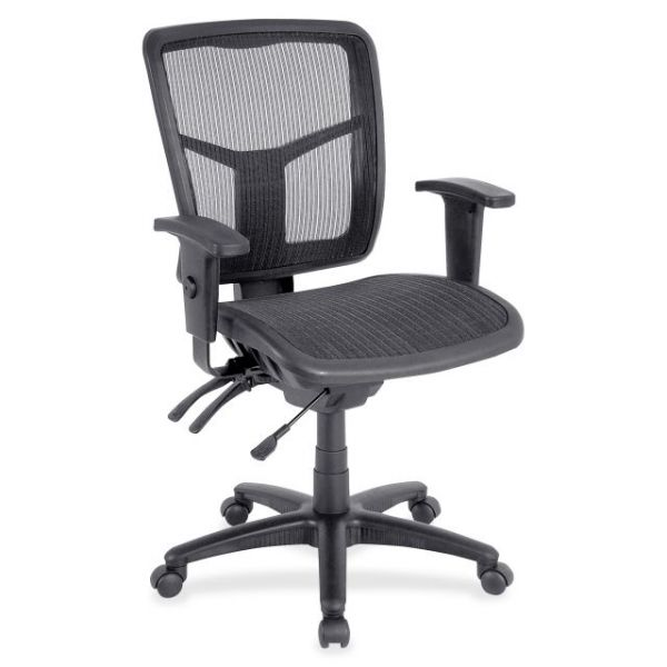 Lorell Mid-Back Swivel Mesh Office Chair