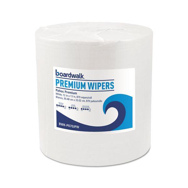 Boardwalk Hydrospun Wipers, White, 12 x 13, 870/Roll