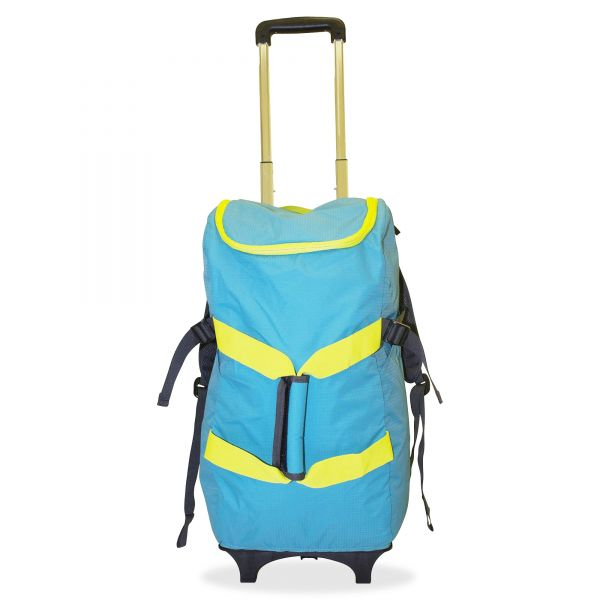 "Dbest Smart Travel/Luggage Case (Rolling Backpack) for 17"" Notebook, Travel Essential - Blue, Yellow"