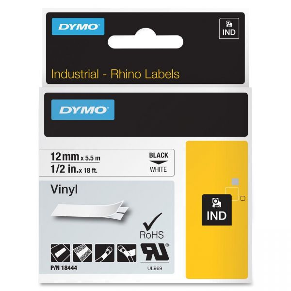 Dymo IND Rhino Industrial Permanent Vinyl Label Tape