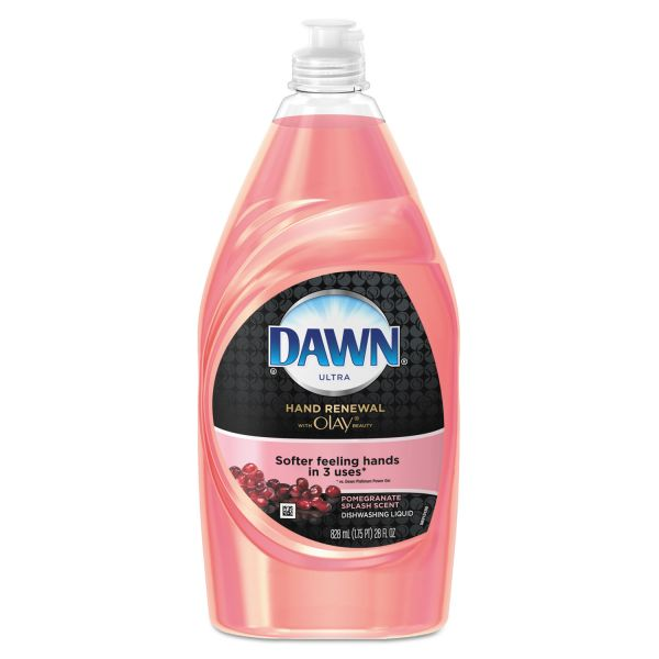 Dawn Ultra Hand Renewal Dishwashing Liquid With Olay,Pomegranate Splash, 28oz, 12/Ctn