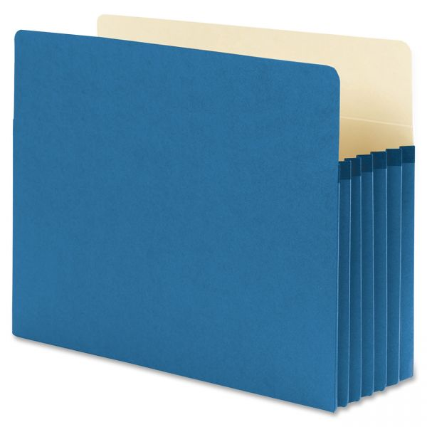 Smead 73235 Blue Colored Expanding File Pockets