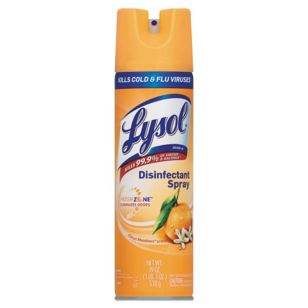 LYSOL Brand Disinfectant Spray, Citrus Meadows, 19oz Aerosol