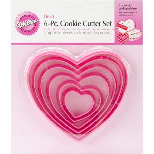 Nesting Plastic Cookie Cutter Set 6/Pkg