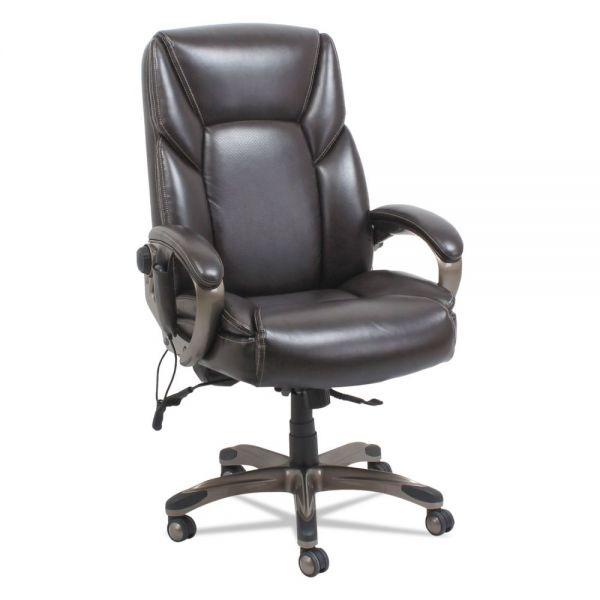 Alera Shiatsu Heated Massage Chair, Chocolate Marble, Bronze Base
