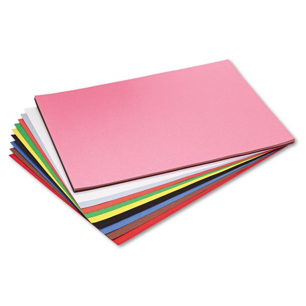 Pacon Riverside Construction Paper, 76 lbs., 18 x 24, Assorted, 50 Sheets/Pack