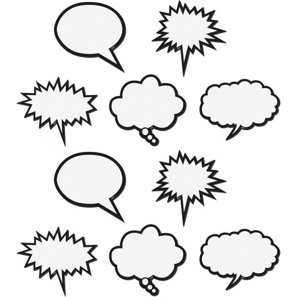 Teacher Created Resources Magnetic Speech Bubble Accents
