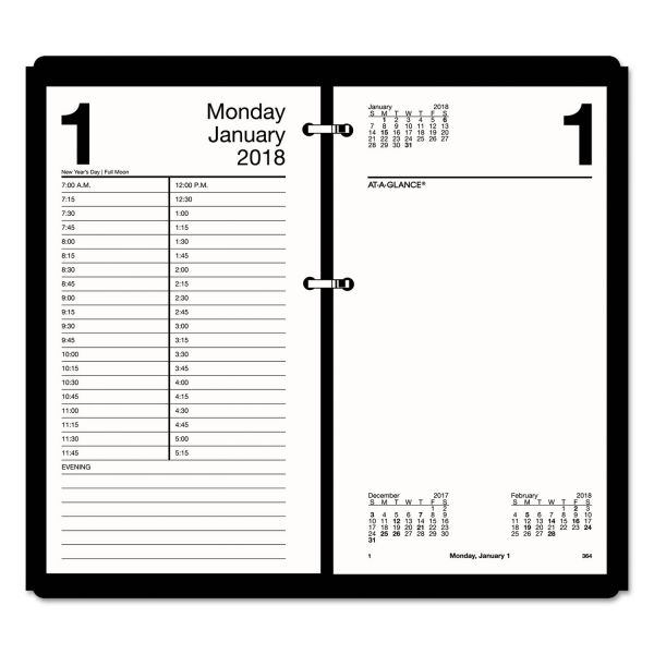 AT-A-GLANCE Large Desk Calendar Refill, 4 1/2 x 8, White, 2018