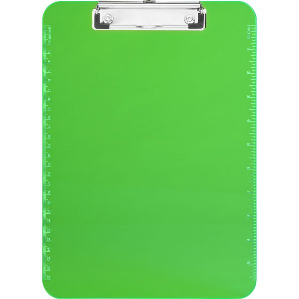 Sparco Transparent Plastic Clipboard