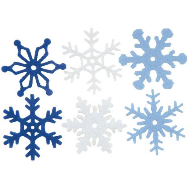 """Medium Felt Snowflakes 1.25"""" 36/Pkg"""