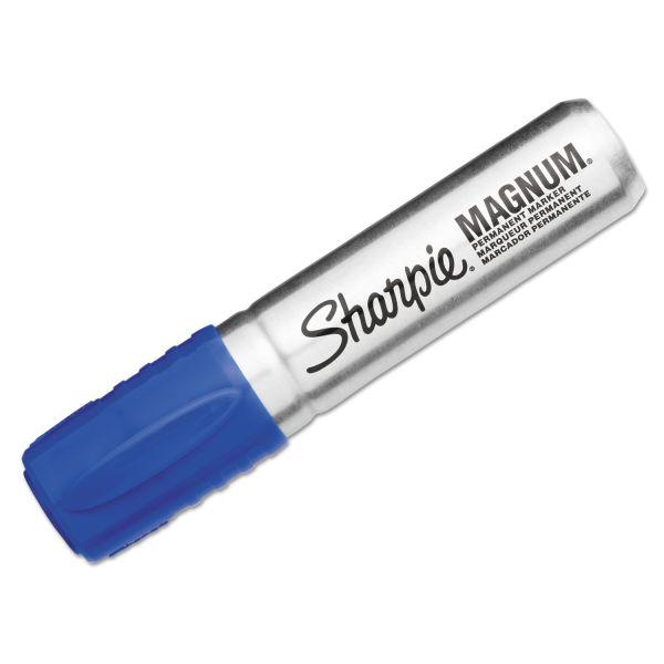Sharpie Magnum Oversized Permanent Marker, Chisel Tip, Blue