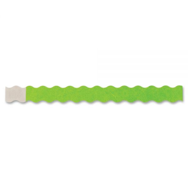 Wristbands Wavy Grn 100/pack