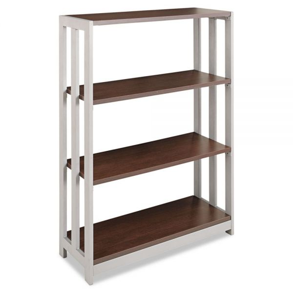Linea Italia Trento Line 3-Shelf Laminate Bookcase