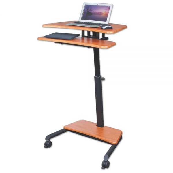 BALT Up-Rite Mobile Standing Workstation, 27 1/2w x 22 1/2d x 45 1/2h, Cherry