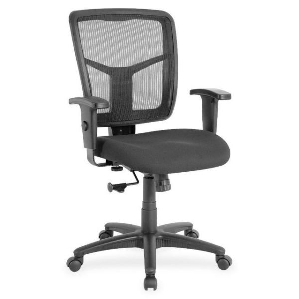 Lorell Managerial Mesh Mid-Back Office Chair