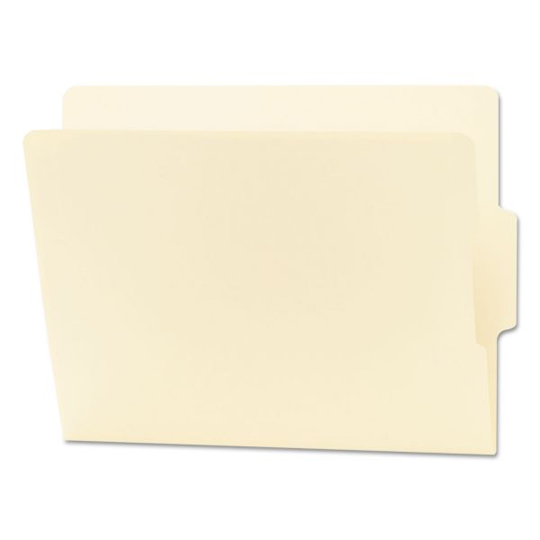 Smead Folders, 1/3 Cut Center Position, Reinforced End Tab, Letter, Manila, 100/Box