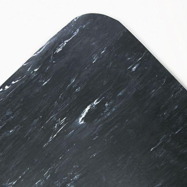 Crown Cushion-Step Surface Mat, 36 x 60, Marbleized Rubber, Black