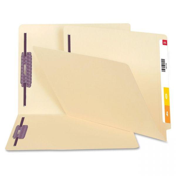 Smead Manila End Tab File Folders with SafeSHIELD Fasteners