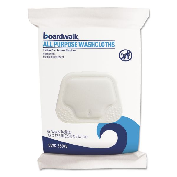 Boardwalk Premoistened Personal Washcloths