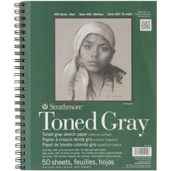 Strathmore Toned Gray Acid Free Sketch Book