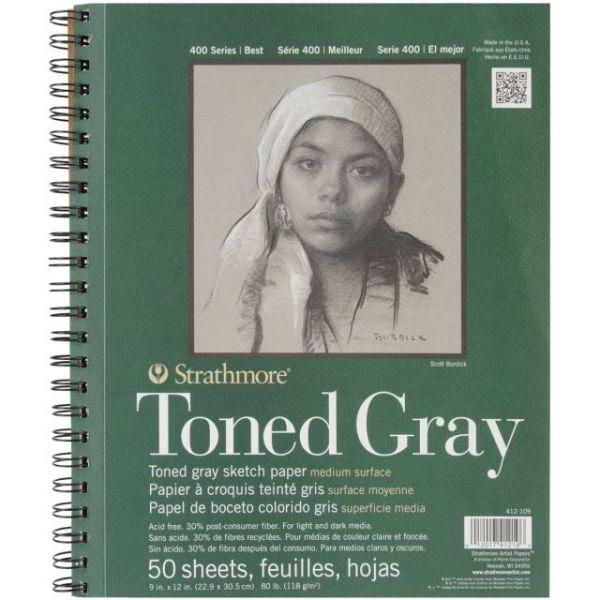 Strathmore Toned Gray Acid Free Sketch Book