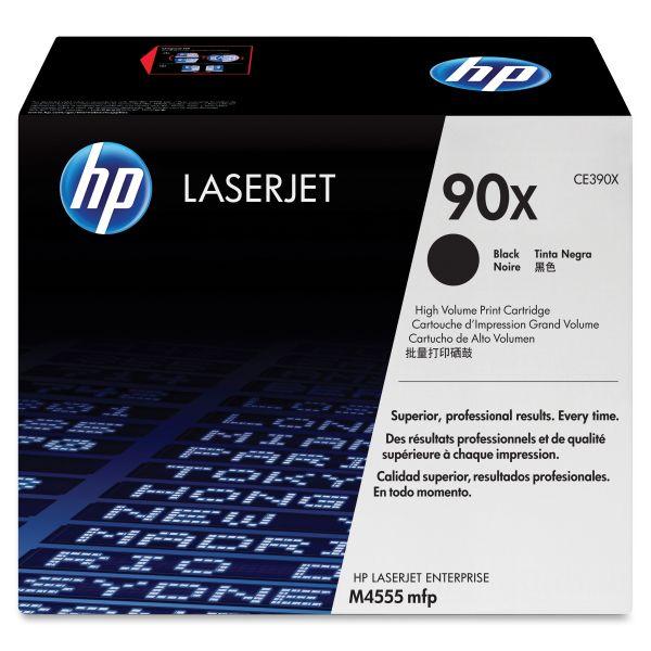 HP 90X Black High Yield Toner Cartridge (CE390X)