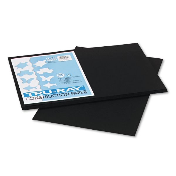 Tru-Ray Black Construction Paper