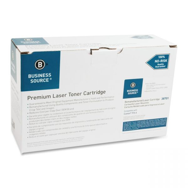 Business Source Remanufactured Canon FX-6 Black Toner Cartridge