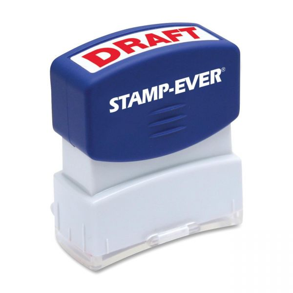 U.S. Stamp & Sign Pre-inked Red DRAFT Stamp