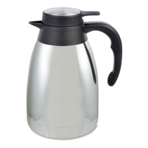 Genuine Joe 1.5 L Vacuum Insulated Chrome Carafe