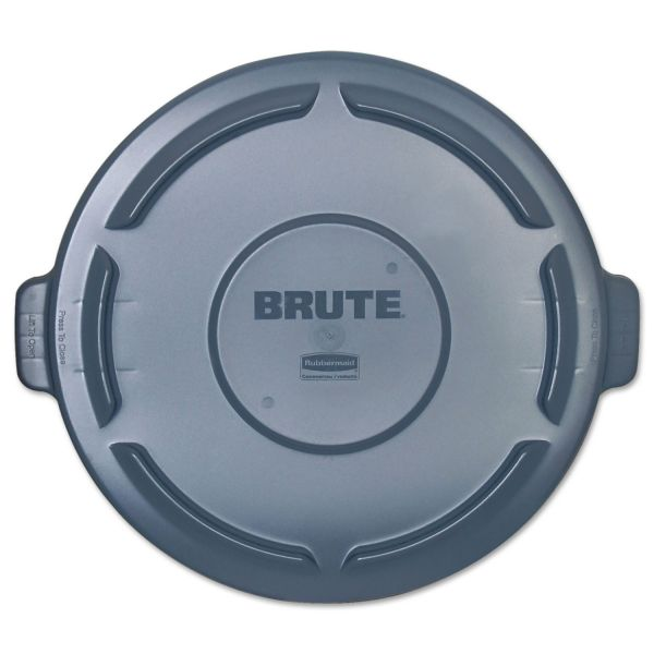 Rubbermaid Commercial Vented Round Brute Lid, 24 1/2 x 1 1/2, Gray