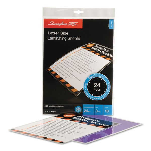 GBC SelfSeal Repositionable Laminating Pouches