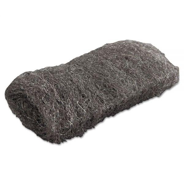 GMT Industrial-Quality Steel Wool Hand Pad, #1 Medium, 16/Pack, 192/Carton