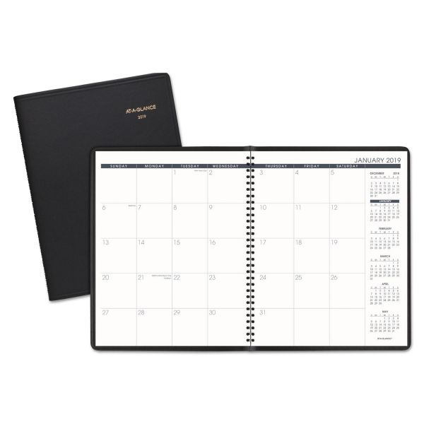 AT-A-GLANCE Monthly Planner, 8 7/8 x 11, Black, 2019