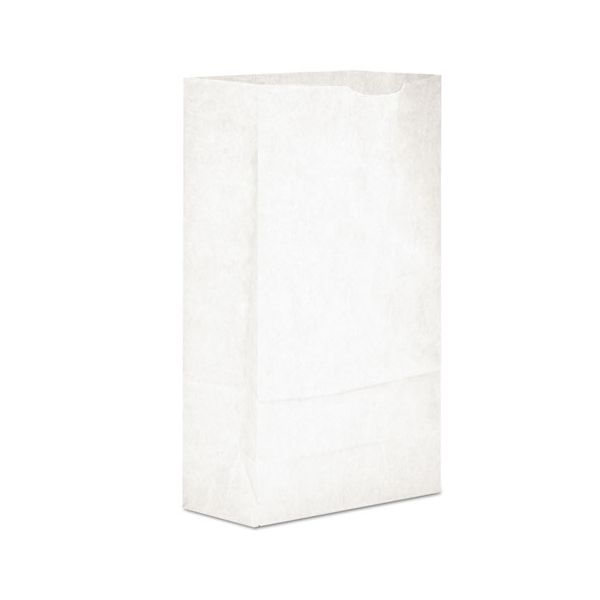 General #6 Paper Grocery Bag, 35lb White, Standard 6 x 3 5/8 x 11 1/16, 2000 bags