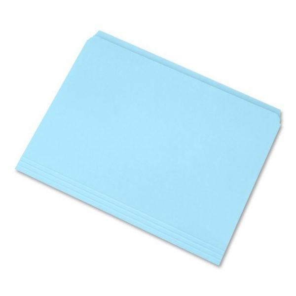 SKILCRAFT Blue Colored File Folders