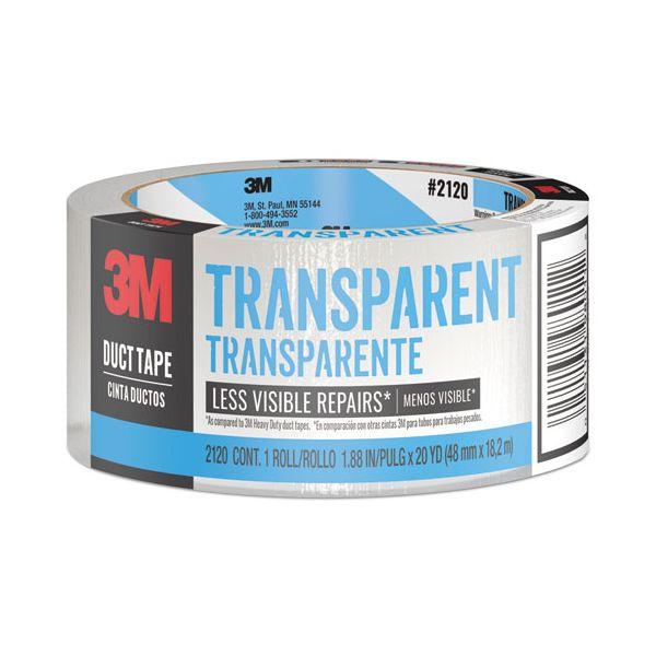 """Scotch Tough Duct Tape - Transparent, 1.88"""" x 20yds, Clear"""