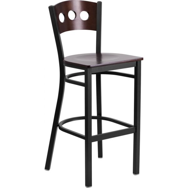 Flash Furniture HERCULES Series Decorative 3 Circle Back Barstool