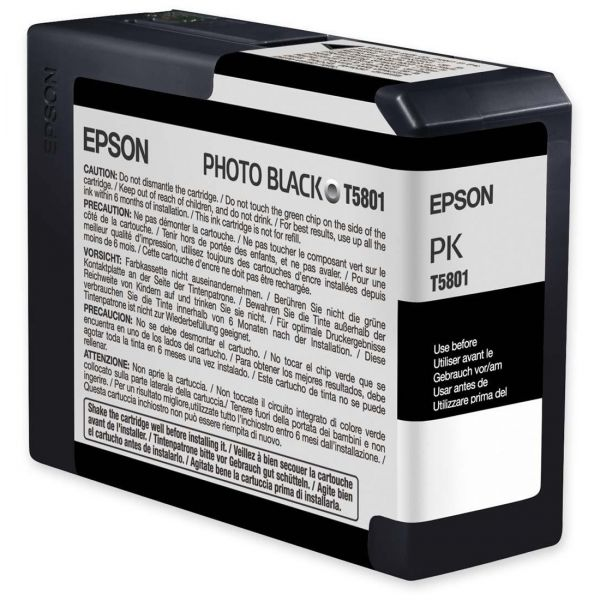 Epson T5801 Photo Black Ink Cartridge