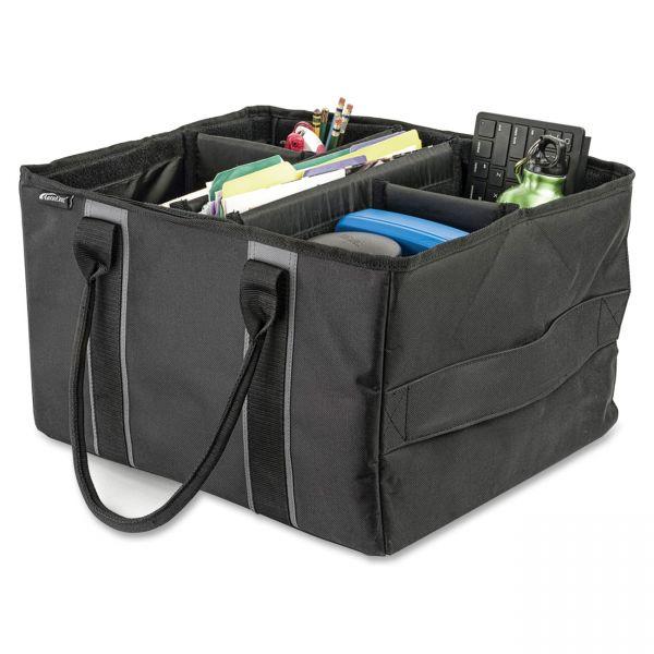 AutoExec File Tote Bag, 600-Denier Nylon, 14 x 17 x 10-1/2, Gray/Black