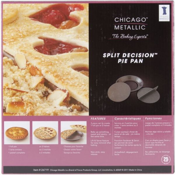 Split Decision Pie Metal Baking Pan