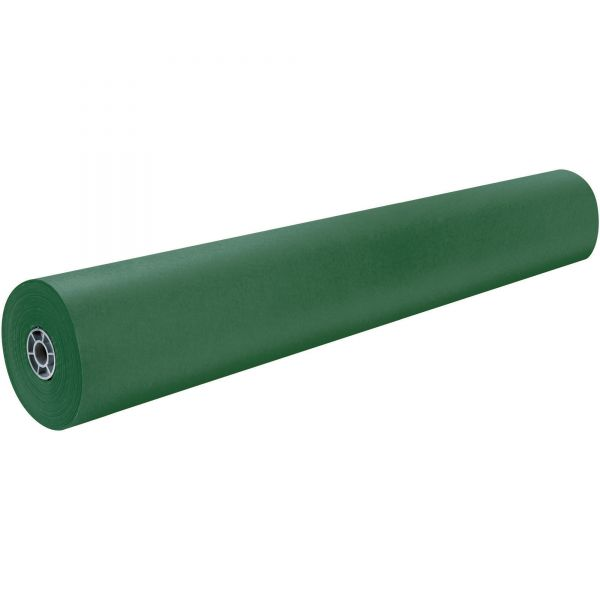 """Pacon Rainbow Duo-Finish Colored Kraft Paper, 35 lbs., 36"""" x 1000 ft, Emerald"""
