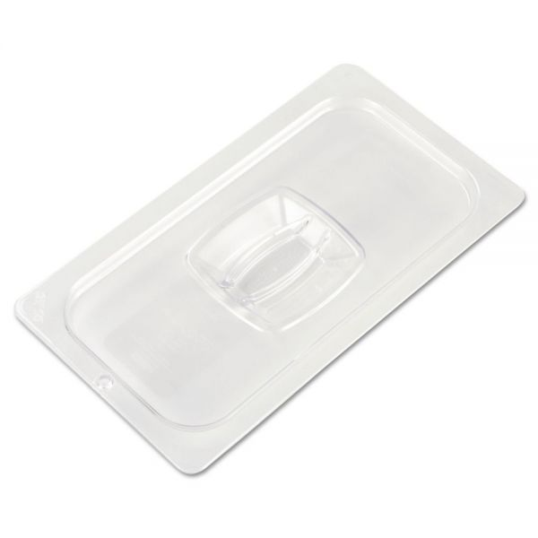 Rubbermaid Commercial Cold Food Pan Covers, 6 7/8w x 12 4/5d, Clear