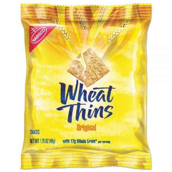 Nabisco Wheat Thins Crackers, Original, 1.75 oz Bag, 72/Carton
