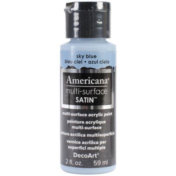 Deco Art Sky Blue Americana Multi-Surface Satin Acrylic Paint