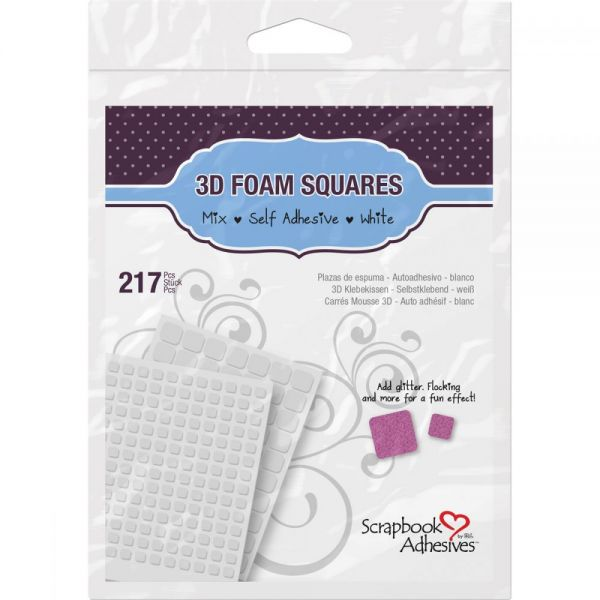 Scrapbook Adhesives 3D Self-Adhesive Foam Squares Variety Pack
