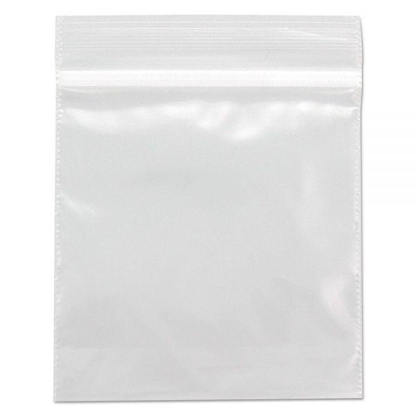 BagCo Zippit Resealable Bags, 3 x 3, 2mil, Clear, 1000/Carton