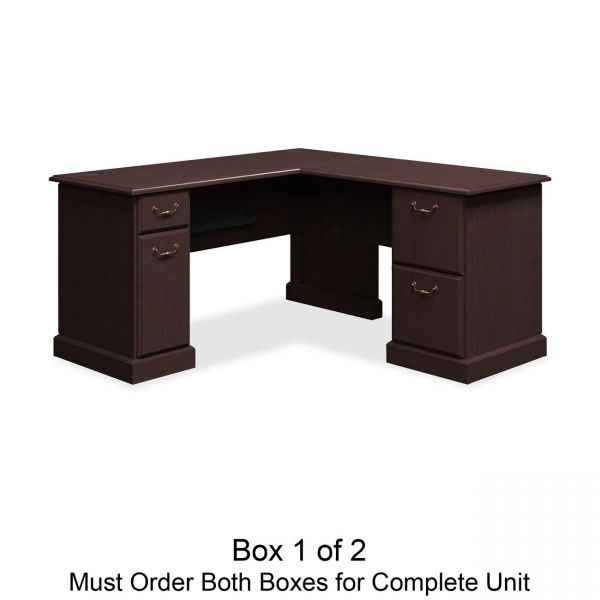 bbf Syndicate L-Shaped Office Desk by Bush Furniture *Box 1 of 2