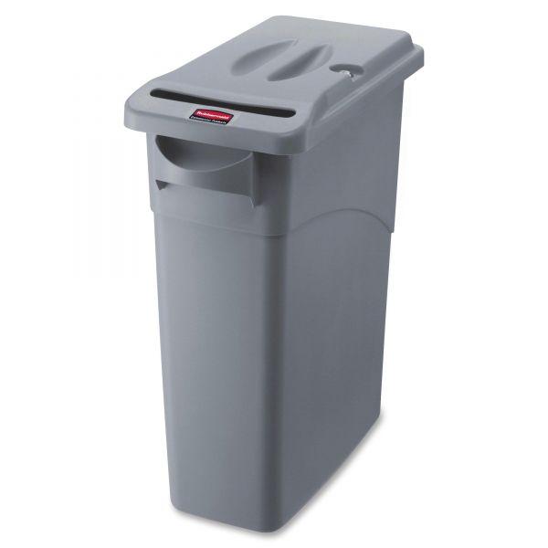 Rubbermaid Slim Jim 15 7/8 Gallon Trash Can with Locking Lid