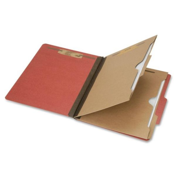 SKILCRAFT 6-Part 11pt Kraft Classification Folders